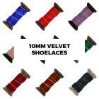 Velvet Ribbon Shoelaces - Width 1cm