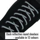 Subtle Dashed Reflective Shoelaces
