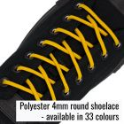 Tough Polyster 4mm round shoelace