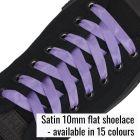 Satin Ribbon Shoelaces - 1cm Width