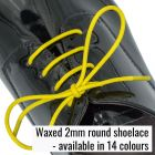 Thin round wax shoelace (2mm)