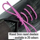Strong round waxed shoelace