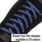 Standard flat waxed shoelace