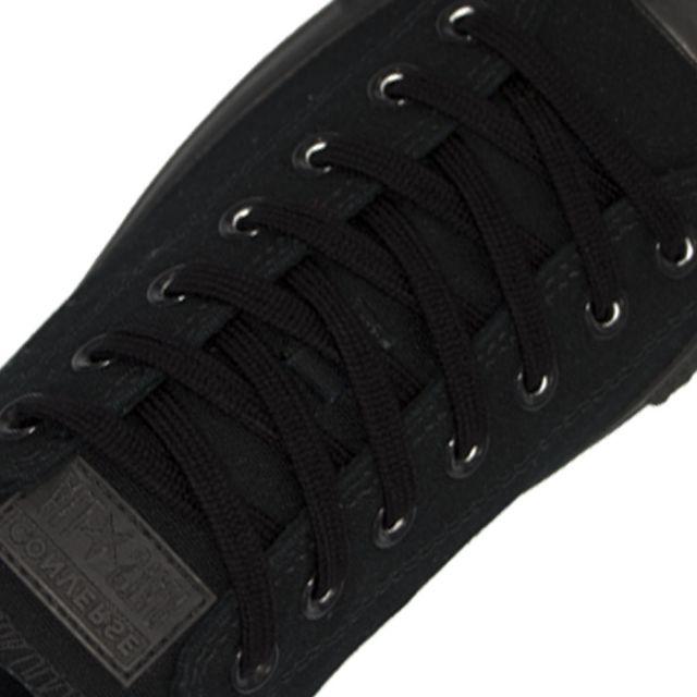 7mm cotton shoelace - 120cm black